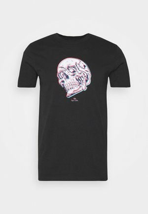 MENS SLIM FIT SKULL - Triko s potiskem - black