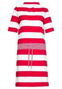 Esprit - JERSEY-KLEID MIT STREIFEN,100%BAUMWOLLE - Sukienka z dżerseju - dark red - 0