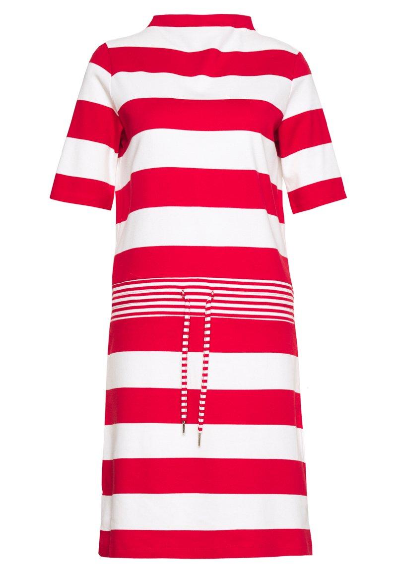 Esprit - JERSEY-KLEID MIT STREIFEN,100%BAUMWOLLE - Sukienka z dżerseju - dark red