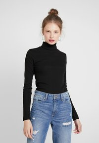 Weekday - VERENA TURTLENECK - T-shirt à manches longues - black - 0