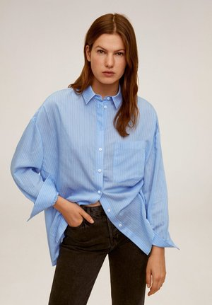 HAPPI - Button-down blouse - blauw
