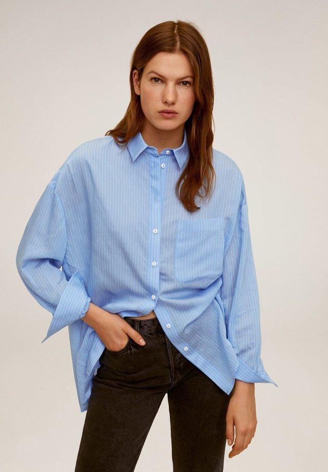 HAPPI - Button-down blouse - blauw