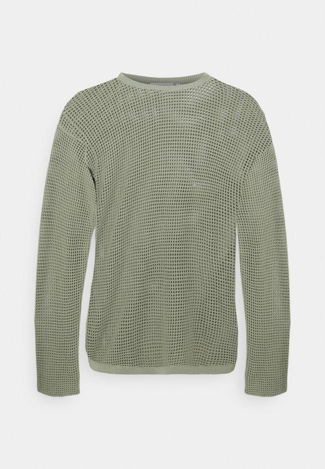 SAMUEL NET UNISEX - Sweter - khaki green