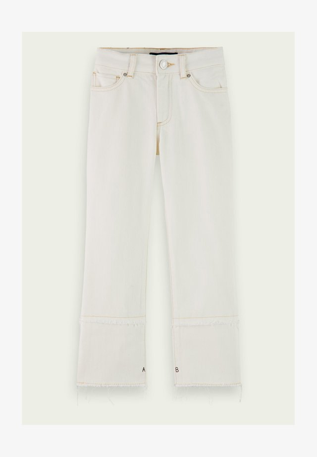 Flared jeans - pearl white
