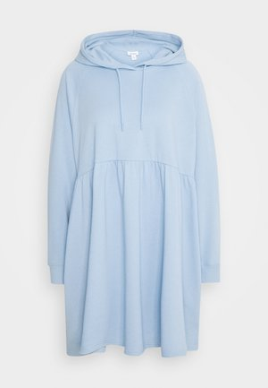 MALIN HOODIE DRESS - Kjole - blue light unique