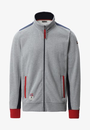BARDARA  - veste en sweat zippée - grey