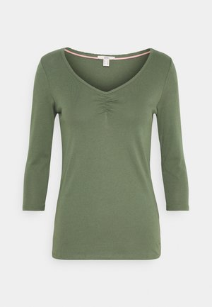 FLOW CORE - Langærmede T-shirts - light khaki