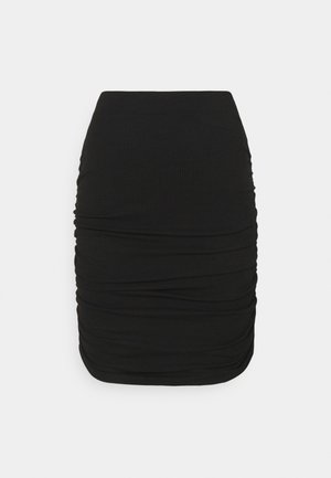 OBJLUCA PAPE SKIRT  - Mini skirt - black