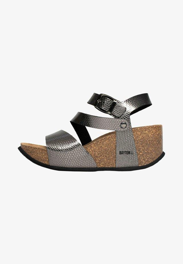 MELILLA - Sandales compensées - dark grey