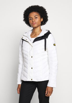 LIGHTNING QUILT - Light jacket - optic white/black