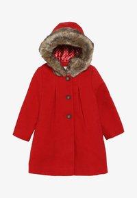 mothercare - BABY FLOW BLEND COAT WITH HOOD - Vinterkappa /-rock - red - 3