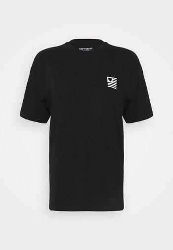 STATE - Print T-shirt - black/white