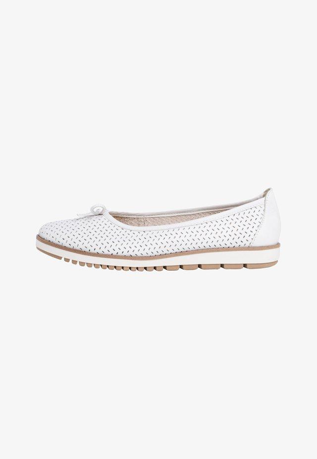 Ballerina's - white leather