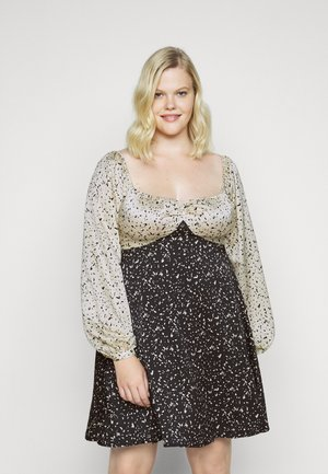 MIX PRINT DALMATION DRESS - Day dress - black