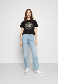 Tommy Jeans - SLIM FLORAL TEE - T-shirt con stampa - black - 1