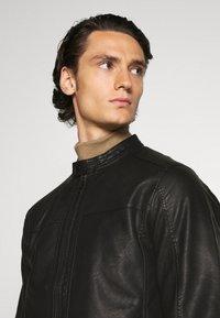 Jack & Jones - JJEWARNER JACKET  - Faux leather jacket - black - 3