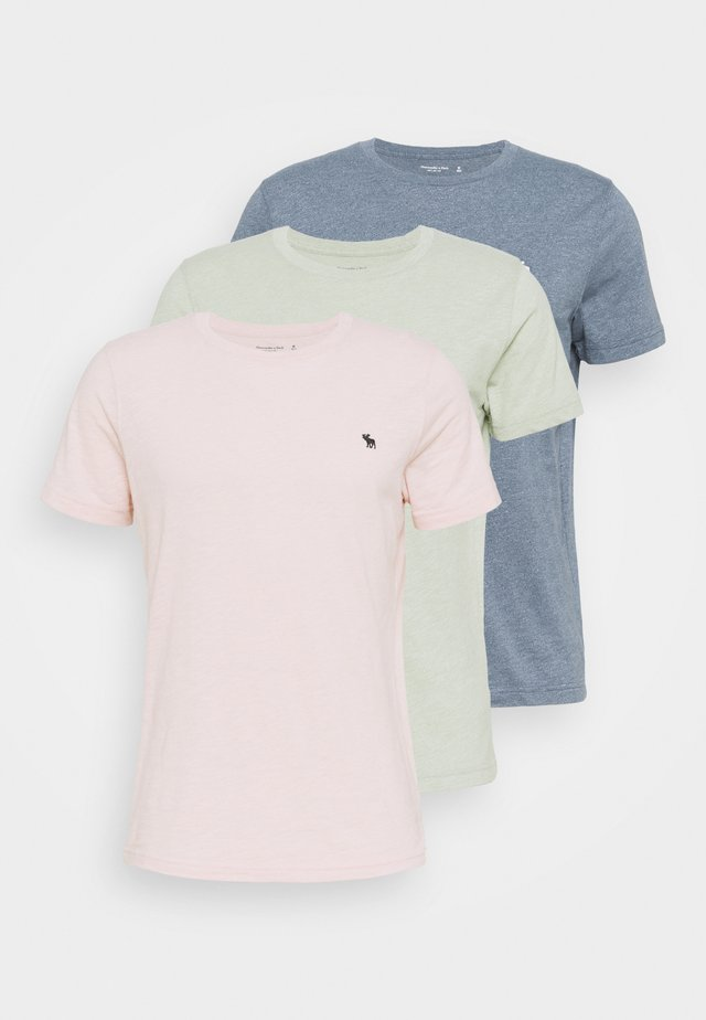 ICON CREW 3 PACK - T-shirt basique - pink/green/blue