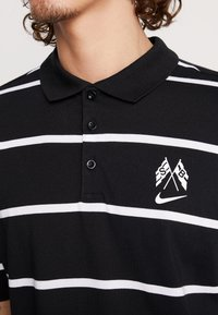 Nike SB - Poloshirt - black/summit white - 4