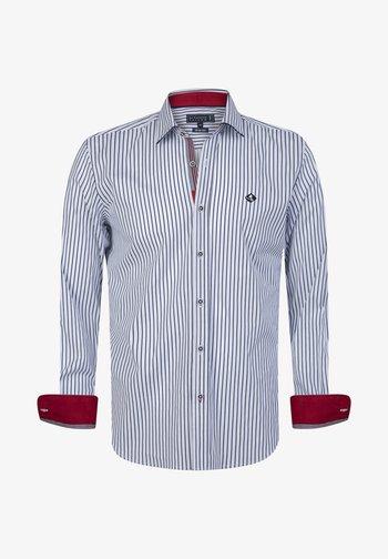 Shirt - white-navy
