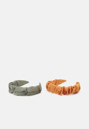 PCJUNNY HAIRBAND 2 PACK - Hair Styling Accessory - bleached aqua/orange