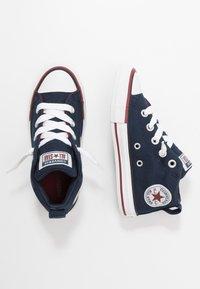 Converse - CHUCK TAYLOR ALL STAR STREET VARSITY MID - Zapatillas altas - obsidian/white/team red - 0