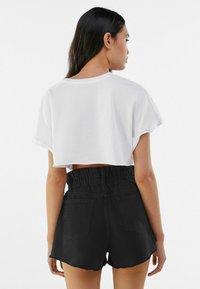 Bershka - Denim shorts - dark grey - 2