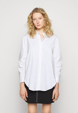 CLEMANDE FANCY SLEEVE BLOUSE - Button-down blouse - white