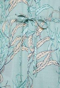 Esqualo - DRESS LONG HARVEST PRINT - Shirt dress - turquoise - 2