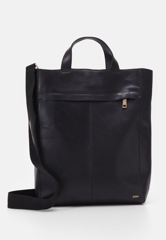 ZAHMAD LEATHER - Shopping bag - black