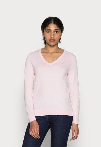 HERITAGE V NECK  - Jumper - cradle pink