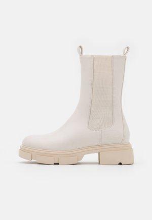 Platform ankle boots - offweiß