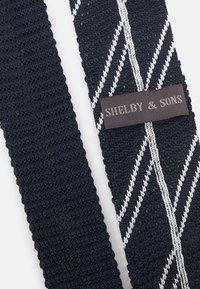 Shelby & Sons - CLEON TIE - Kravata - navy/white - 3