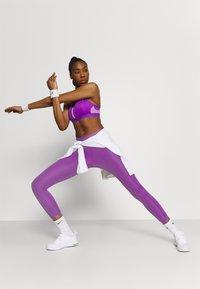 Nike Performance - ONE LUXE CROP - Leggings - wild berry - 1