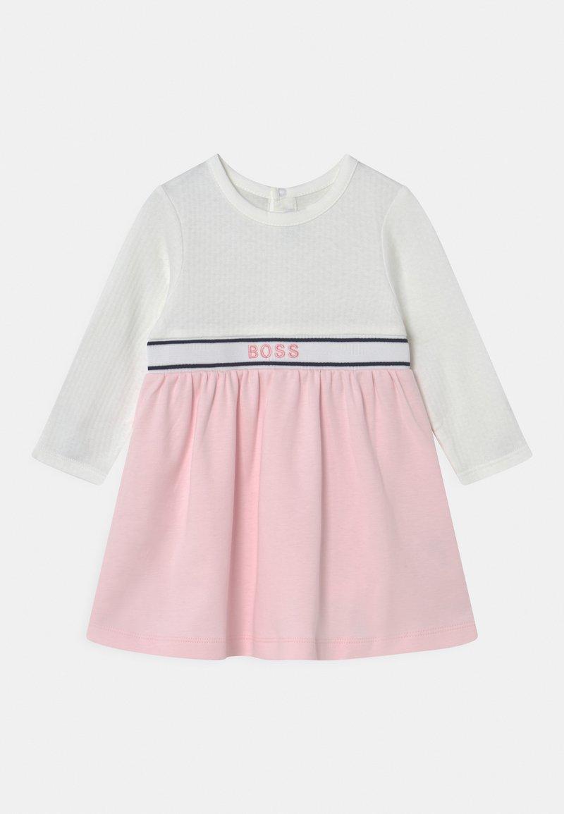 BOSS Kidswear - DRESS - Jersey dress - white pink