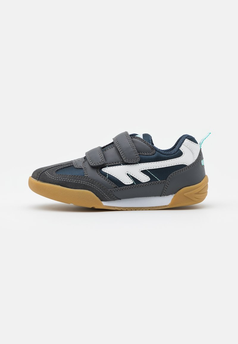 Hi-Tec - SQUASH JR UNISEX - Sports shoes - grey/navy/mint