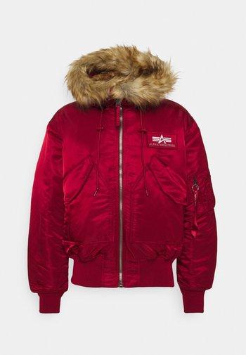 HOODED CUSTOM - Winter jacket - red