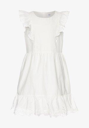 GIRL V-EYELET DRESS - Day dress - new offwhite