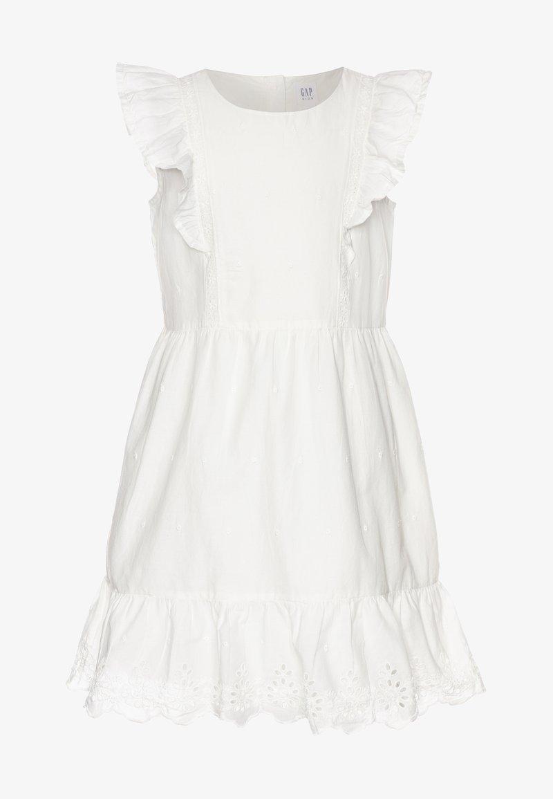 GAP - GIRL V-EYELET DRESS - Korte jurk - new offwhite