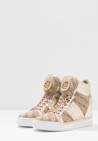 Guess - FREETA - High-top trainers - beige/brown - 4