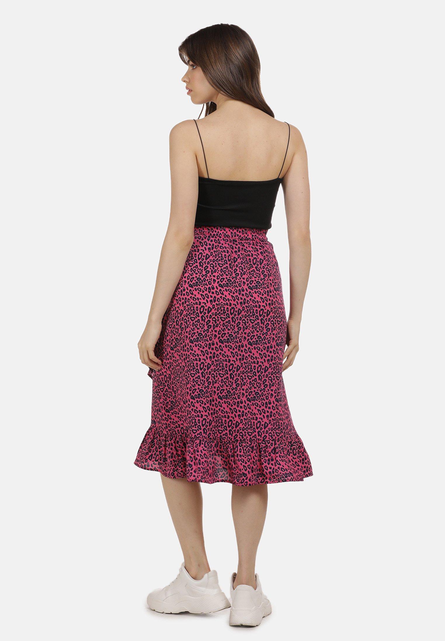 Buy Women's Clothing myMo A-line skirt neon pink leo g5ZaMUbpN