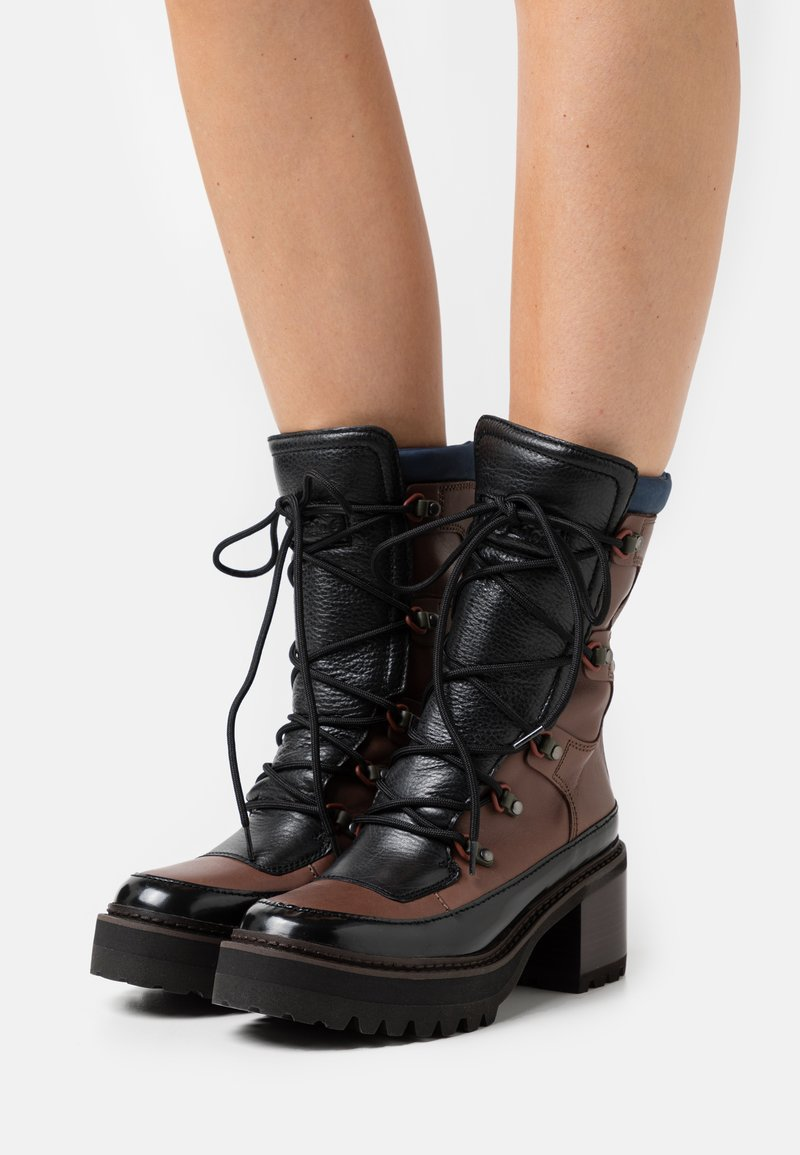 See by Chloé - Lace-up ankle boots - brown
