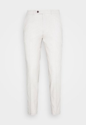 LINEN MIXED FIBER SUIT PANTS - Pantalón de traje - string
