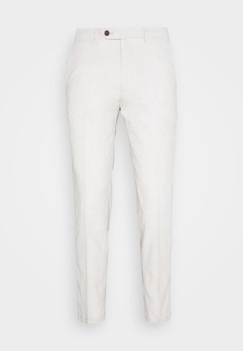 Jack & Jones - LINEN MIXED FIBER SUIT PANTS - Suit trousers - string