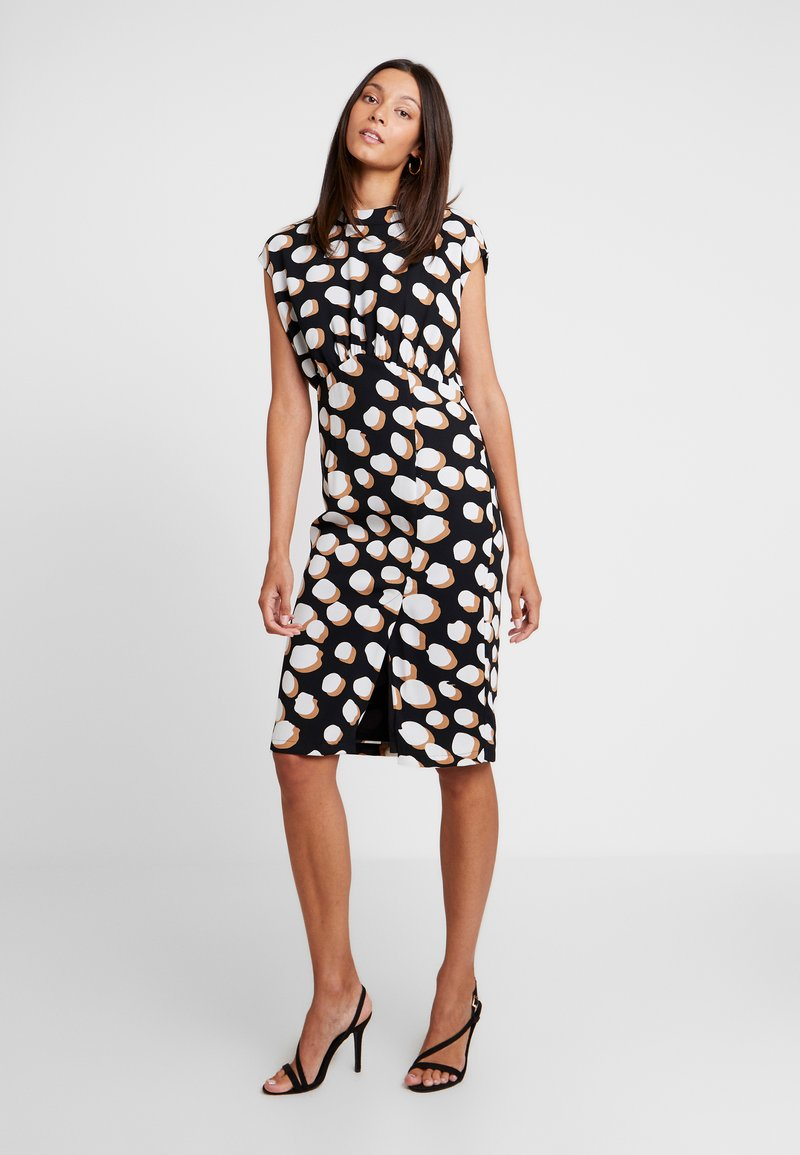 Great Plains London - MARGOT SPOT - Day dress - black/amaretto