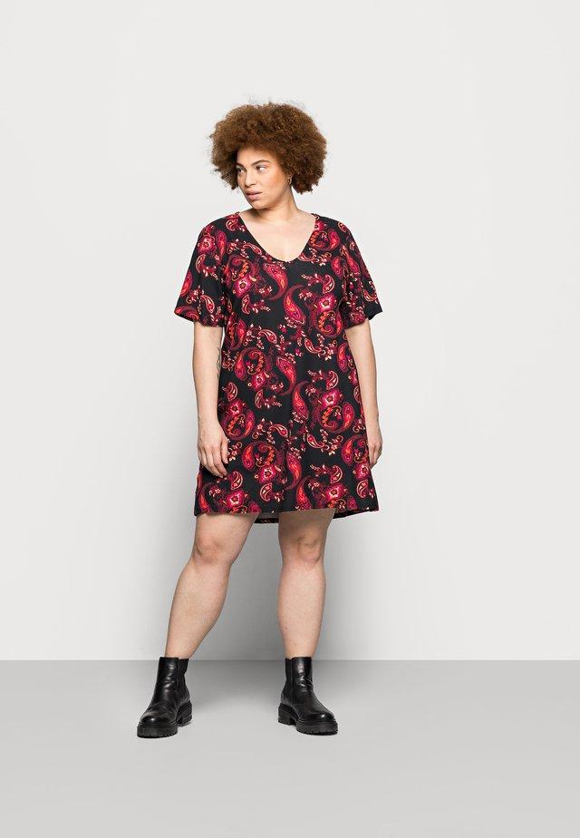 V NECK DRESS 2 PACK - Jerseyjurk - black