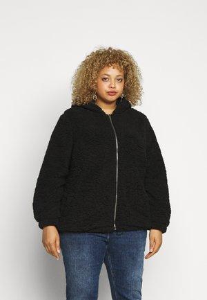 HOODED CLEO BORG  - Winter jacket - black