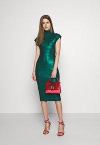 Hervé Léger - MOCK NECK DRESS - Sukienka etui - green - 1