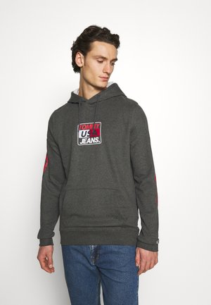 ESSENTIAL GRAPHIC HOODIE - Sweat à capuche - dark grey heather