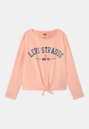 TIE FRONT - Pullover - pink