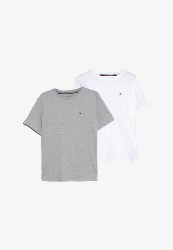 TEE 2 PACK  - T-shirt basic - mottled light grey